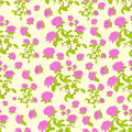 Pink Rose Flower Seamless Pattern Vector Stock Image - 52548991