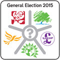 UK General Election 2015 Politcal Party Logos Sign Royalty Free Stock Images - 52553289