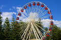 Ferris Wheel On Blue Sky Royalty Free Stock Images - 52563739