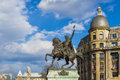 Statue Of Michael The Brave Near Univeristy Square In Bucharest Royalty Free Stock Photography - 52566017