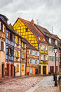 Colmar, Petit Venice, Street, Lamp And Traditional Houses. Alsac Royalty Free Stock Photography - 52569057