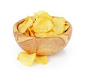 Heap Of Organic Potato Chips Isolated On White Stock Photography - 52587962