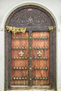 Old Weathered Carved Traditional Zanzibarian Door Royalty Free Stock Photo - 52589075