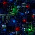 Circuit Board With LED S And Wires Seamless Pattern Stock Photography - 52591242