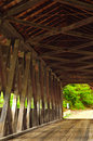 Old Covered Bridge Interior Royalty Free Stock Photography - 5265167