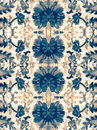 The Ornament Of The Pieces Of Fabric With A Pattern Royalty Free Stock Photography - 52615277
