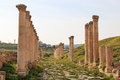 Ruins Of The Ancient Jerash, The Greco-Roman City Of Gerasa In Modern Jordan Stock Image - 52617321