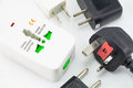 Different Universal Adapters Travel Adapters Stock Photography - 52619182