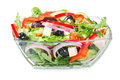 Salad With Fresh Vegetables, Olives And Cheese Royalty Free Stock Images - 52638959