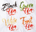 Lettering Tea Drops Royalty Free Stock Photo - 52642655