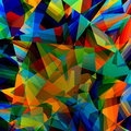 Colorful Geometric Background. Abstract Triangular Pattern. Polygonal Art Illustration. Poly Style Design. Triangle Concept. Stock Photography - 52651712
