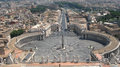 Looking Down Over Piazza San Pietro In Vatican City Royalty Free Stock Photography - 52656047