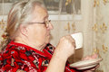 Old Woman And Tea Stock Images - 52665294
