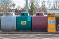 A Collection Bin For Second Hand Inkjet Cartridges, Bottles, Gla Royalty Free Stock Image - 52679186