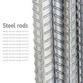 Steel Rods, Reinforcement Bars Isolated On White Background Used Royalty Free Stock Photo - 52689765