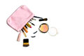 Make Up Bag With Cosmetics Isolated Stock Images - 52690814