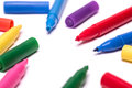 Colorful Markers Royalty Free Stock Photo - 52695645