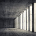 3d Empty Interior And Concrete Walls And Columns Royalty Free Stock Photo - 52695725
