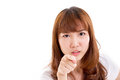 Angry Asian Young Adult Woman Pointing Royalty Free Stock Photo - 52705055
