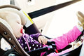 Baby Sleeping In Car Royalty Free Stock Photography - 52709487