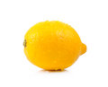 Fresh Lemon With Drop Water On White Background Royalty Free Stock Photography - 52726827