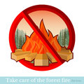No Fire In Forest Or Park Royalty Free Stock Images - 52732549