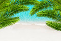 White Sand Beach And Tropical Sea With Palm Tree. Royalty Free Stock Photo - 52760335