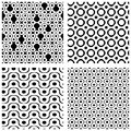 Set Of Grate Seamless Patterns With Geometric Figures, Ornamenta Stock Photo - 52771540