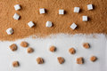 White And Brown Sugar Contrast Royalty Free Stock Photos - 52774188