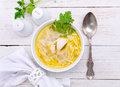Chicken Noodle Soup. Royalty Free Stock Photo - 52776985