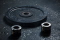 Black Weight For The Rod Royalty Free Stock Photo - 52781545