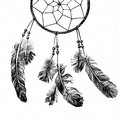 Hand Drawn Dream Catcher Royalty Free Stock Images - 52794169