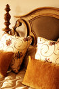 Colorful Cushions On The Bed Royalty Free Stock Photos - 5282088