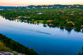 Boat Showing Motion Austin Texas Colorado River Bend Stock Photo - 52800140