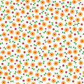 Cute Small Vector Flowers Seamless Pattern Royalty Free Stock Photos - 52807188