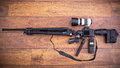 Camera Equipment In The Shape Of Machine Gun Royalty Free Stock Images - 52820819
