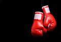 Boxing Gloves Over Black Royalty Free Stock Photography - 52822627