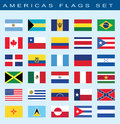 Set Of Americas Flags, Vector Illustration. Stock Image - 52834011