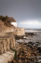 Runwick Bay - White House - North Yorkshire - UK Royalty Free Stock Images - 52834929