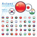 Set Of Asian Flags, Vector Illustration. Stock Images - 52836094