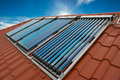 Vacuum Collectors- Solar Water Heating System Stock Photography - 52838462