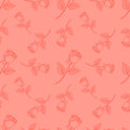 Seamless Cute Rose ,flower Pattern Vector Stock Photos - 52839563