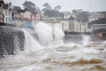 Large Waves Breaking Against Sea Wall At Dawlish In Devon Stock Photography - 52843102