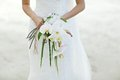 Bride Holding White Orchid Flower Wedding Bouquet Stock Image - 52849631