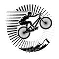 Mountain Bike Trials. Royalty Free Stock Photography - 52873247