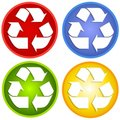 Colorful Recycle Symbols Stock Images - 5290444