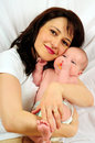 Mom And Little Baby Girl Royalty Free Stock Photo - 5294285