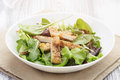 Salad From Mixed Herbs And Fried Chicken Stock Photography - 52901632