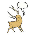 Cartoon Stag With Speech Bubble Stock Image - 52945881
