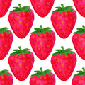 Watercolor Seamless Pattern. Strawberry Background . Watercolor Pattern Design. Vector Summer Fruit Illustration. Stock Images - 52971734